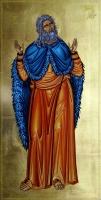 Интерпретация на икона Св. Илия, яйчна темпера, 23,3 карата злато, Траян Добрев - преподавател по Иконопис